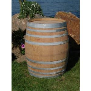 Regenfass Konfigurator 600L groß aus gebrauchtem Weinfass aus massivem Eichenholz