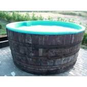 Hot Tub / Whirlpool BASIC aus Eichenholzfass, Polyester