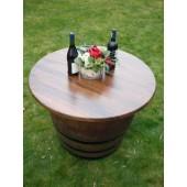 Sitzgruppentisch mit Dreischichtleimholz-Tischplatte mit D.100cm, Höhe 73cm