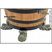 Fuß Gross 3er SET - Untersetzer für Weinfass