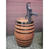 350 Liter Regenfass aus Eichenholz mit Pumpe, hell lasiert