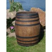 600 Liter Eichenholz Weinfass, dunkel gebeizt Ringe Schwarz