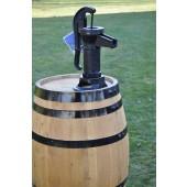 150 Liter Regenfass mit Pumpe, hell gebeizt, Fabrikneu