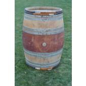 Weinfass aus Eichenholz mit Weidenholz-Ringen 225 liter