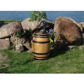 110 Liter Regenfass mit Pumpe, hell gebeizt, Fabrikneu